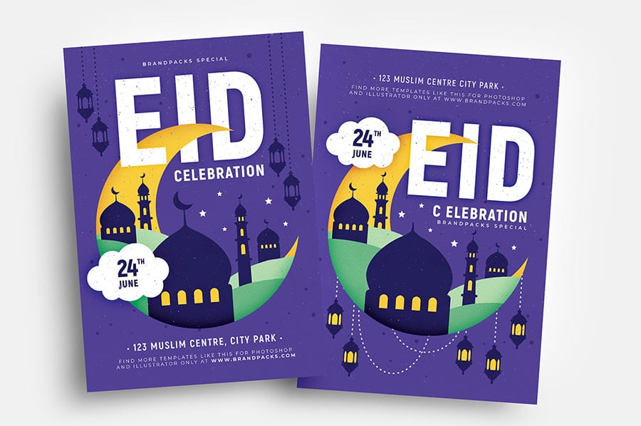 Free Eid Vector Flyer Template
