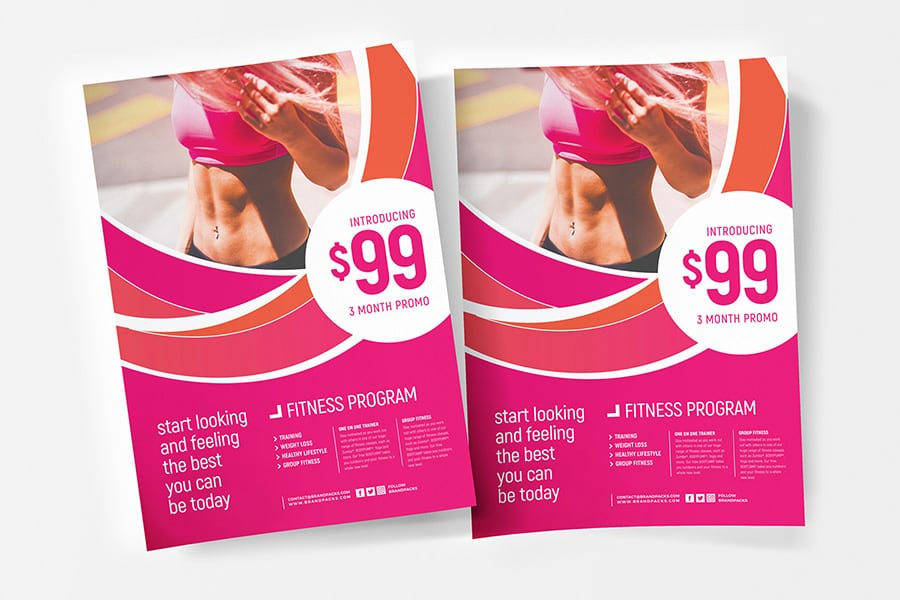 Free Female Fitness Flyer Template