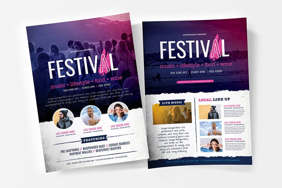 Free Event Vector Flyer Template