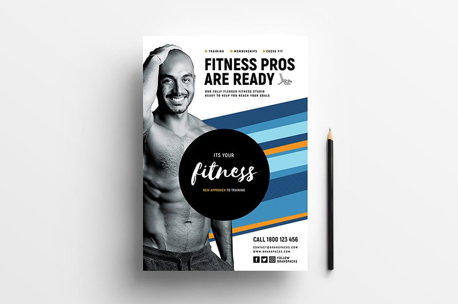Free Fitness Flyer Template Vector