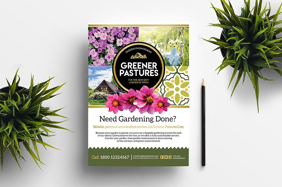Free Gardening Flyer Template Vector