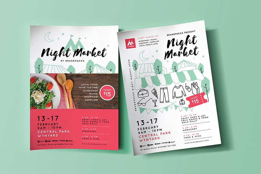 Free Night Market Flyer Template