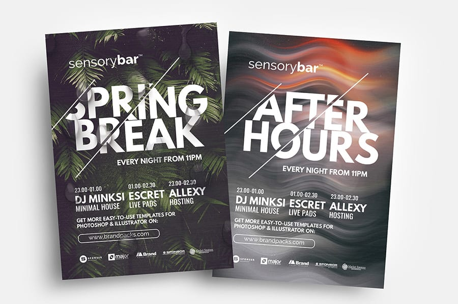Free Nightclub Flyer Template in Vector & PSD