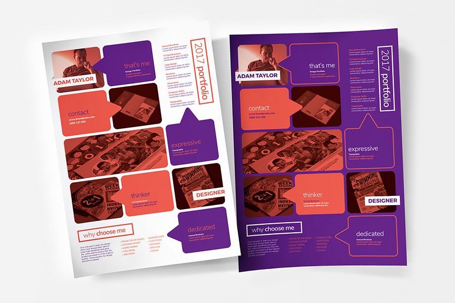 Free Portfolio Flyer Template Vector