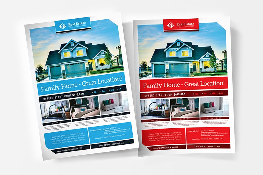 Free Real Estate Flyer Template Vector