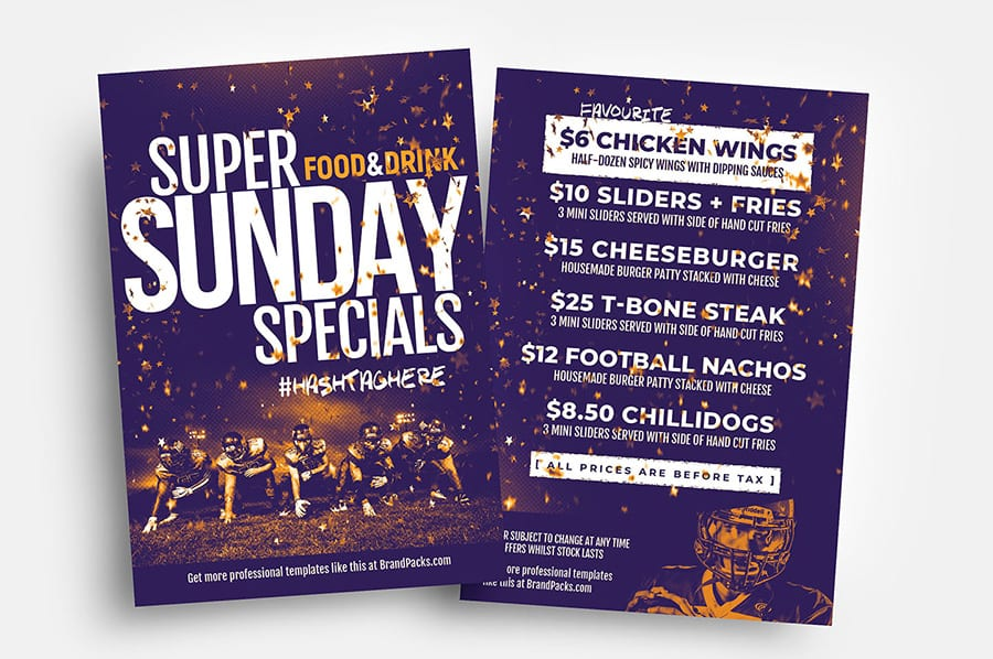Free Super Sunday Flyer Template PSD & Vector