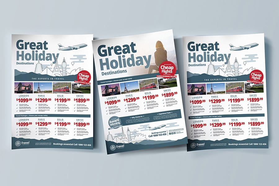 Free Travel Agency Flyer Template