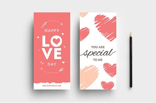 Free Valentine's Day Rack Card Template