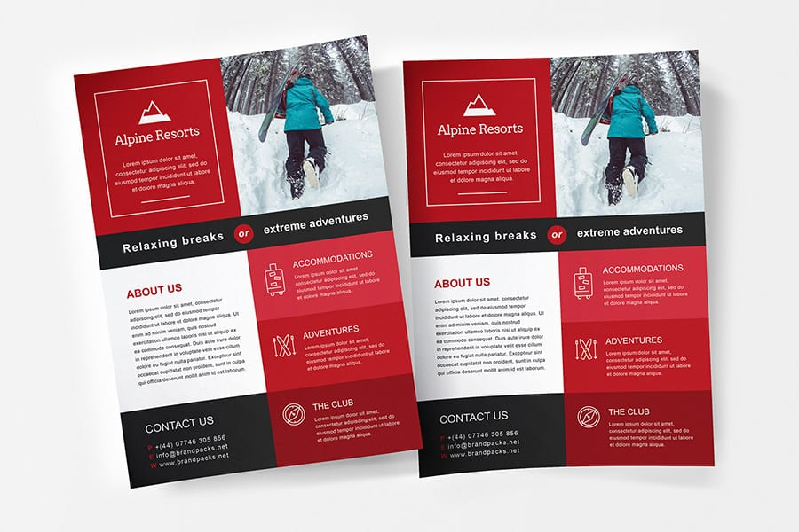 Free A4 Poster/Flyer Template Vector
