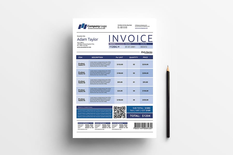 Free Invoice Template Vector