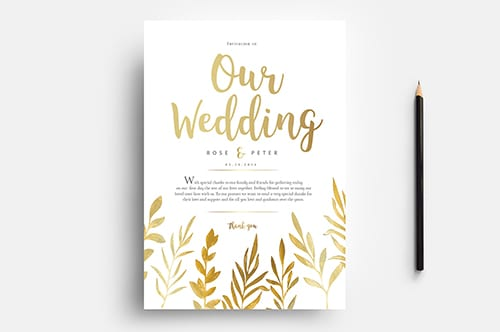 Free Watercolour Wedding Templates