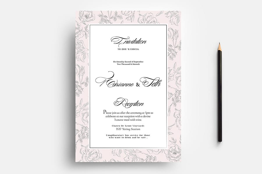 Free Wedding Flyer Template Vector