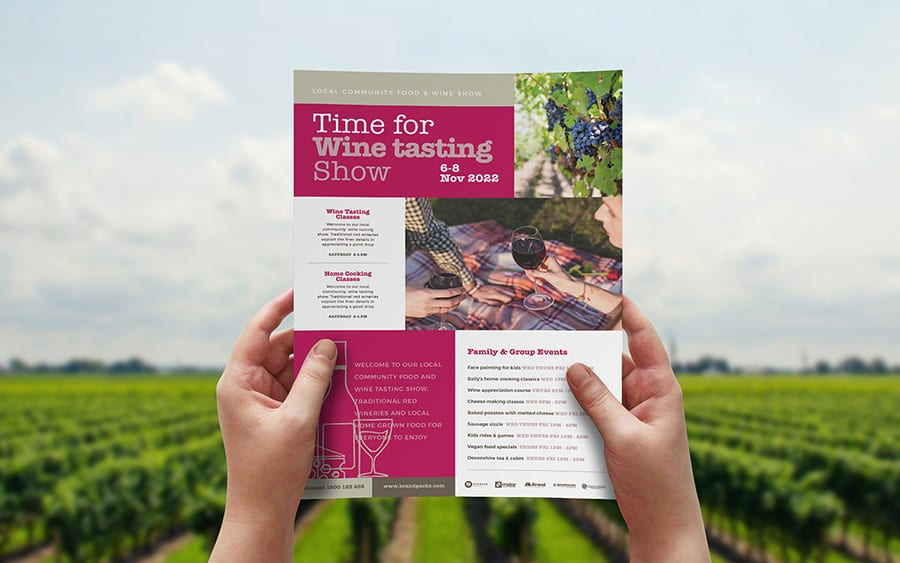 Free Wine Event Flyer Template Vector