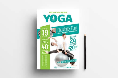 Free Yoga Poster Templates