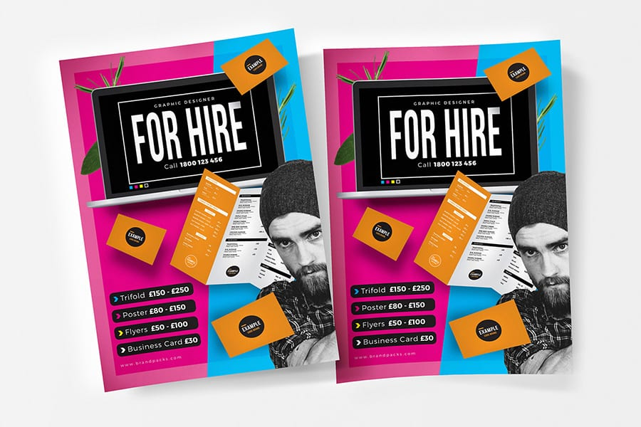 Free Freelancer Flyer Template Vector