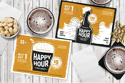 Happy Hour Flyer Templates
