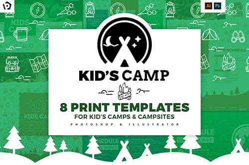 Kids Camping Templates Pack