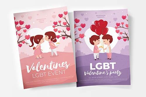 Valentine's Day Poster Template v2