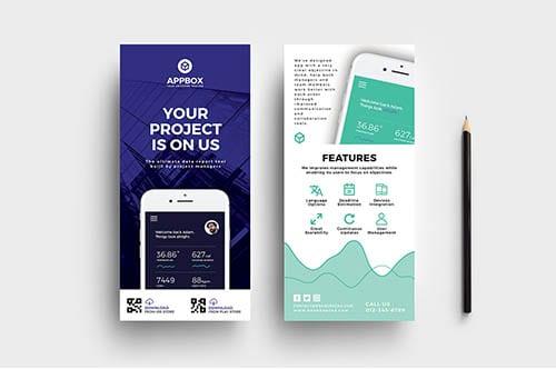 Mobile App DL Card Template