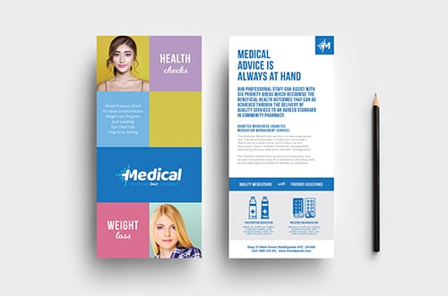 Modern Medical DL Rack Card Template