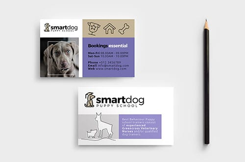 Puppy School Business Card Template