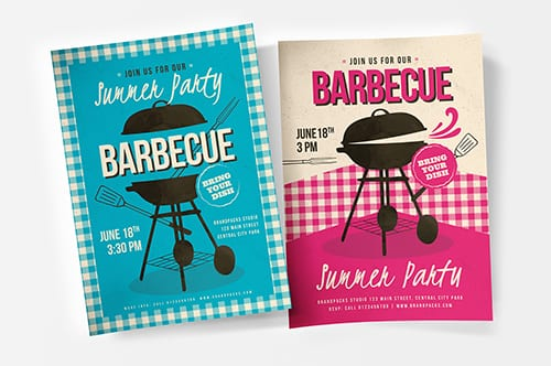 Retro BBQ Poster/Flyer Template