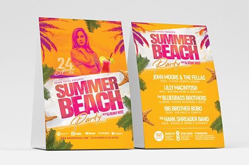 Summer Beach Table Tent Templates
