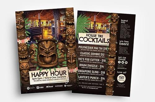Tiki Bar Flyer Templates