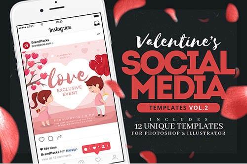 Valentine's Day Instagram Templates