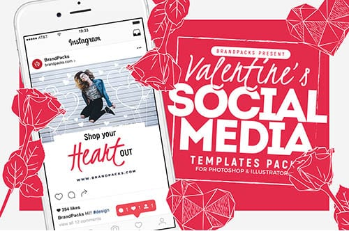Valentine's Day Social Media Templates