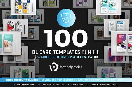 100 DL Rack Card Templates Bundle