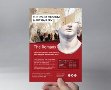 Free Museum Flyer Template (Front)
