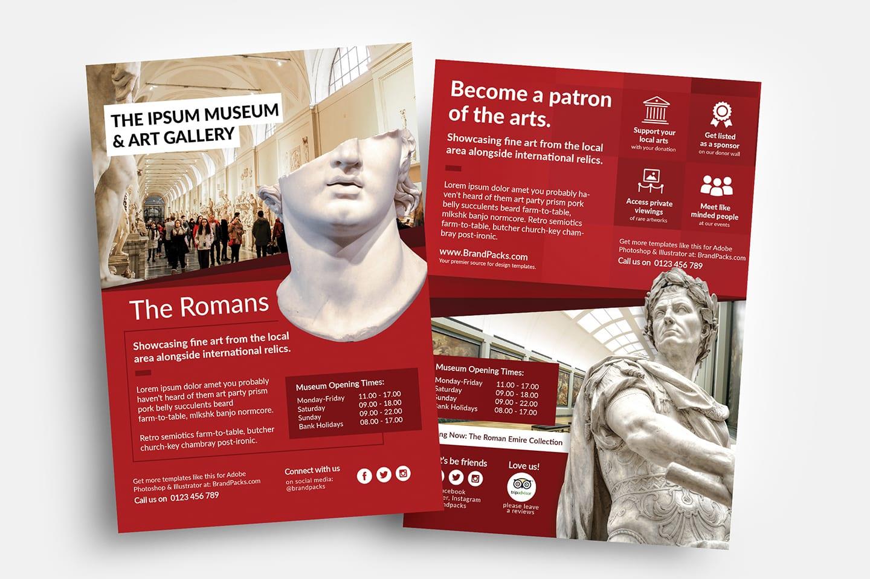 Free Museum Flyer Templates Psd Ai Vector Brandpacks