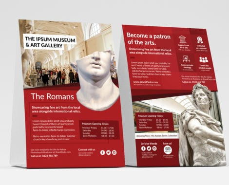 Free Museum Table Tent / Flyer Templates