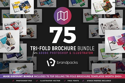 75-in-1 Tri-Fold Brochure Templates Bundle