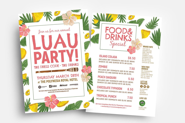 Free Luau Party Flyer Templates