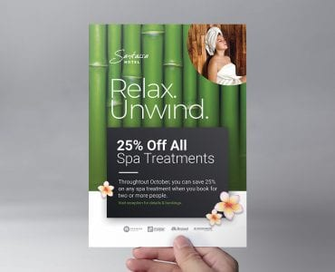 Free Hotel Spa Flyer Template (Front)