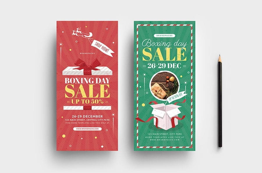 Boxing Day Sale DL Rack Card Template