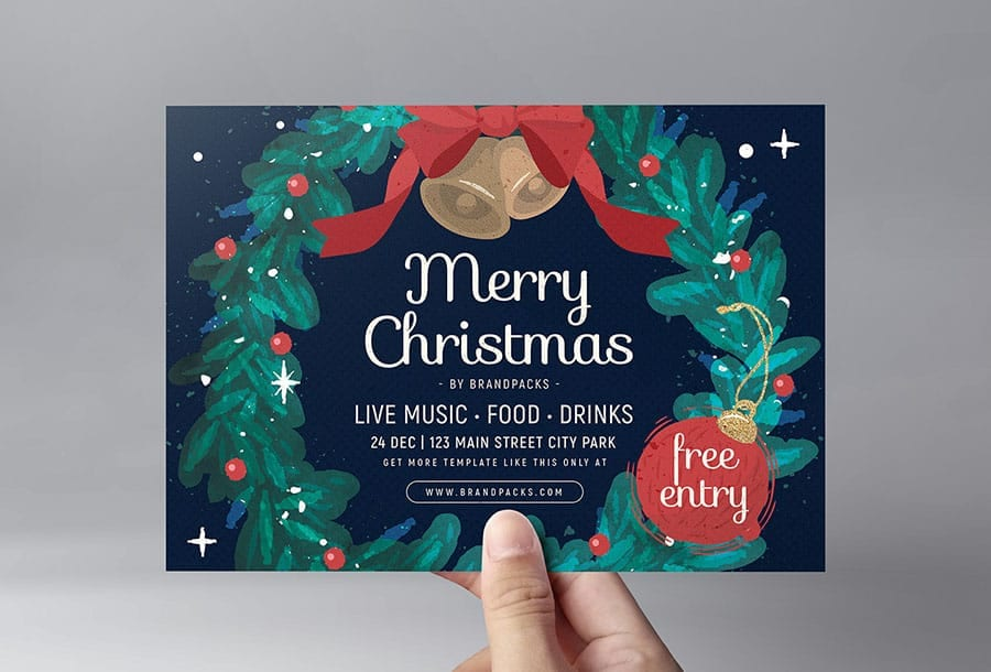 Christmas Flyer Template in PSD & Vector