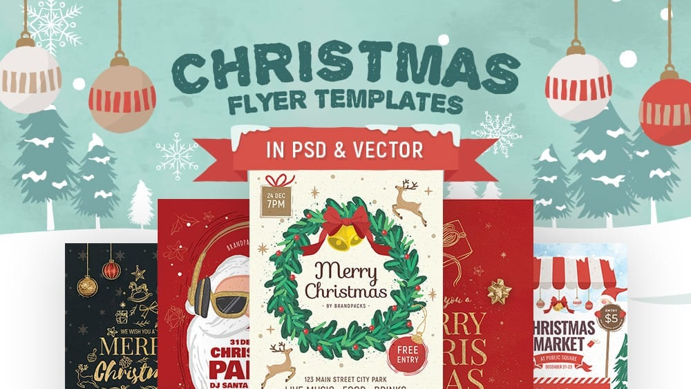 30+ Christmas Flyer Templates, Design Ideas & Inspiration