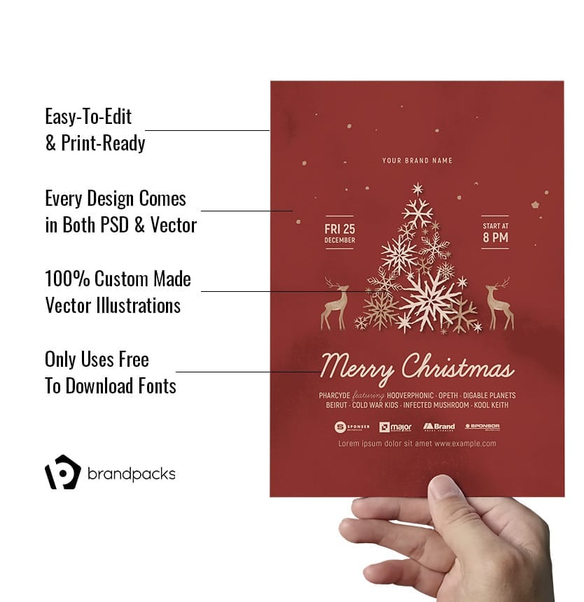 Christmas Flyers in PSD & Vector