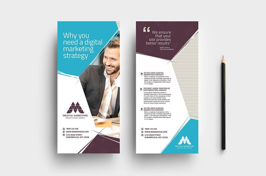 Digital Marketing DL Rack Card Template