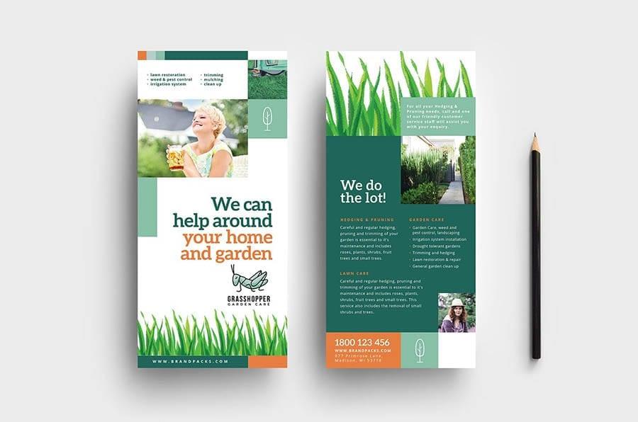 Garden Care DL Rack Card Template