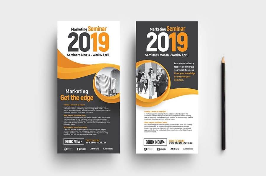 Marketing Seminar DL Rack Card Template