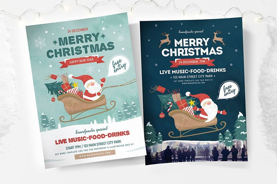 Merry Christmas Poster Templates