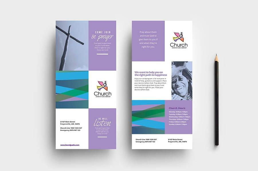 Modern Church DL Card Template