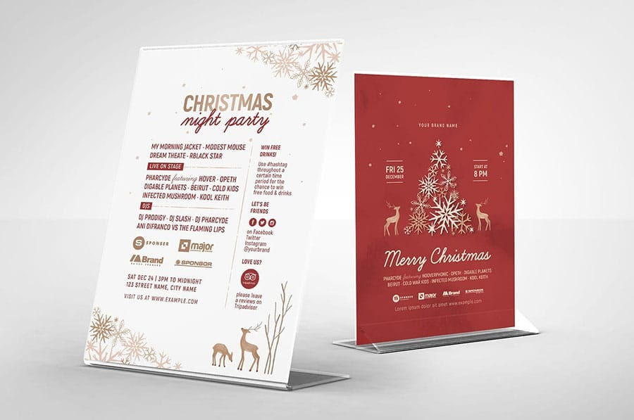 Ornate Christmas Flyer Template / Table Tent