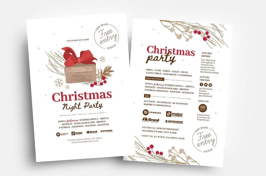 Rustic Christmas Flyer Template