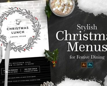 Stylish Christmas Menu Templates