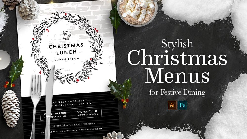 12+ Stylish Christmas Menu Templates for Festive Dining